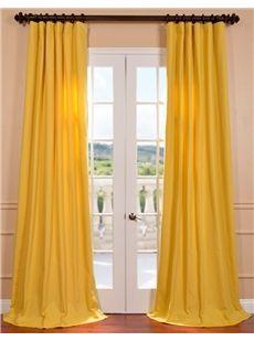 Half Price Drapes Mustard Yellow Cotton Twill Curtain  , #HalfPriceDrapes  , #CottonTwillCurtain