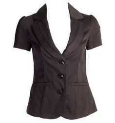 black sateen blazer