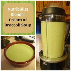 Nutribullet Rx cream of broccoli soup recipe. The new Nutribullet Rx makes makin. - Nutribullet Rx cream of broccoli soup recipe. The new Nutribullet Rx makes making soup in a blender - Recipe For Cream Of Broccoli Soup, Broccoli Soup Recipes, Blender Soup, Magic Bullet Recipes, Ninja Recipes, Yummy Recipes, Ninja Blender Recipes, Jelly Recipes, Recipies