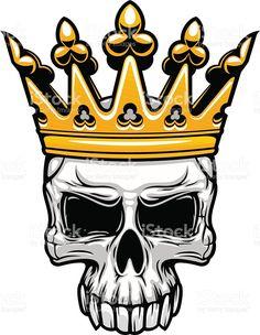 Resultado de imagem para caveira coroa