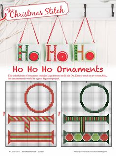 HoHoHo From Just Cross Stitch JCS March - April 2017 1 of 2