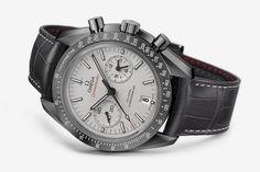 """Omega Releases The Speedmaster """"Grey Side Of The Moon"""". http://www.selectism.com/2014/09/29/omega-speedmaster-grey-side-moon/"""