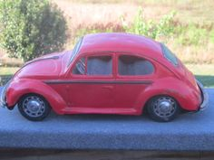 Volkswagon Tin Toy Car 1960's by LeftoverStuff on Etsy, $40.00