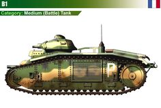 Battle Tank B1 (APX-1 Turret w/47mm SA34)