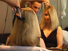 This year's summer haircut is going to be a nice high bowlcut. Shot Hair Styles, Long Hair Styles, Punishment Haircut, Bald Head Women, Long Hair Cut Short, Forced Haircut, Brunette Hair Cuts, Half Shaved Hair, Blonde Haircuts