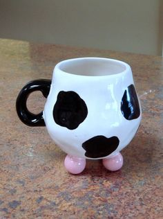 Any Cow Lovers Out There?!  Utterly Cute Cow Mug by claytopia on Etsy, $20.00