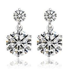 Cheap earings fashion jewelry, Buy Quality earrings jewelry directly from China zircon earrings Suppliers: Hot fashion wild female luxury silver earrings twin white crystalline zircon earrings wholesale jewelry manufacturers Fashion Earrings, Women's Earrings, Diamond Earrings, Fashion Jewelry, Diamond Stud, Wedding Earrings, Pendant Earrings, Wedding Jewelry, Ear Jewelry