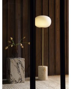 Pared back to its purest form the JWDA Floor Lamp for @menuspace is a study in the contract of natural materials. Set on a substantial marble base a tubular stem of solid brass holds an elliptical opal glass shade. The brass dimmer switch smoothly control the brightness of the light for reading or relaxing or simply to create that Friday night ambiance. Happy weekend! ... #jwda #jonaswagell #menuspace #jwdalamp #jwdafloorlamp #scandinaviandesign #productdesign #lightingdesign #ambiance… Honed Marble, Marble Top, Natural Wood, Natural Materials, Laser Cut Steel, Small Restaurants, Cafe Tables, One Design, Visual Identity