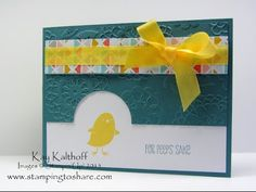 Stampin' Up! For Peeps' Sake with How To Video Plus EVEN MORE New Sale-a-bration Items, Kay Kalthoff, Stamping to Share