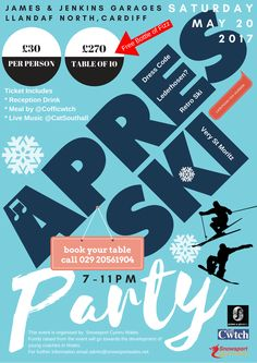 Apres Ski Party! at James & Jenkins Cardiff - EventsnWales, Put on your best retro onesie ski suit and come help Snowsport Cymru Wales celebrate the end ....