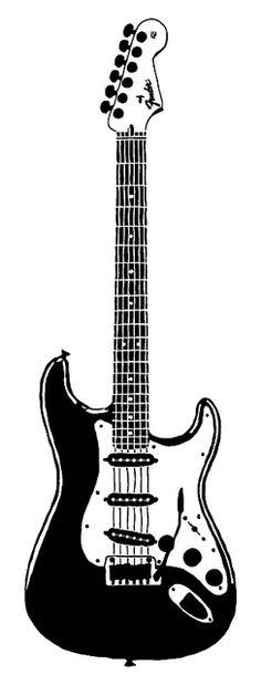 Guitar Stencil by Tegan Holcombe, via Flickr