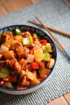 Sweet and Sour Pork or gu lou juk in Cantonese. Who would ever want to turn down such sweet, tangy, crunchy, and succulent dish?
