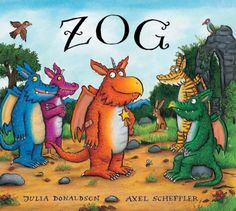 Zog by Julia Donaldson and Axel Scheffler. Our 15 month grandson loves Zog! Julia Donaldson Books, Axel Scheffler, The Gruffalo, Mysterious Girl, Dragon Knight, Award Winning Books, Early Readers, Book Format, Gold Stars