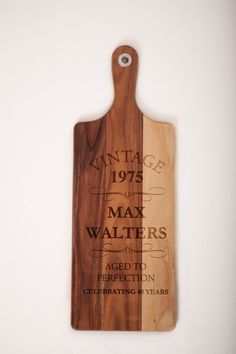 Personalized Laser Engraved Wood Chopping by MelbourneLaser