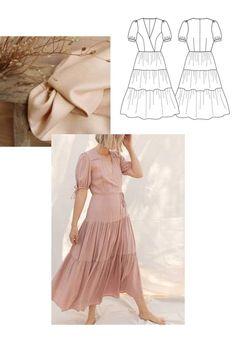 Inspirations pour coudre sa robe personnalisée #15 – AtelierCharlotteAuzou Two Piece Skirt Set, Couture, Pretty Mercerie, Pantalon Large, Skirts, Bustier, Ballet Skirt, Dresses, Chic