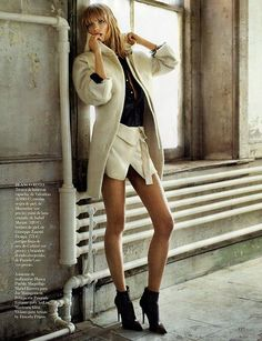 Julia Stegner in Spanish Vogue (Nov 13). Ph Alex Cayley
