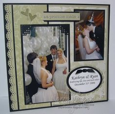 black scrapbook page ideas   PAPER SMILES: To Have & to Hold Scrapbook pages