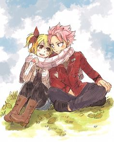 Fairy Tail ~ Natsu & Lucy! One of my favorite anime couples. :)