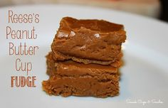 Reeses Peanut Butter Cup Fudge - Snack Cups and Smiles