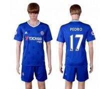 Chelsea #17 Pedro Home Soccer Club Jersey
