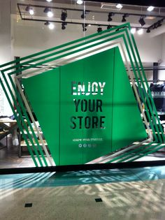 Enjoy your store. Springfield Facade vinyl. Window display