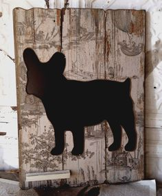 Chalkboards Toile French Bulldog    $39.. Wanna make something like this with a fox silhouette