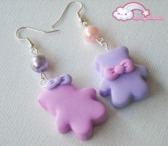 Love is in the Air - Orecchini Couple of Bears #kawaii #cute #sweet #handmade…