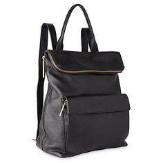 Buy Whistles Verity Large Leather Backpack, Black Online at johnlewis.com