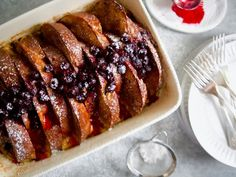"""Baked Challah French Toast (Ladies Who Brunch) - Molly Yeh, """"Girl Meets Farm"""" on the Food Network. Breakfast Dishes, Breakfast Recipes, Breakfast Ideas, Breakfast Casserole, Brunch Ideas, Breakfast Time, Sweet Breakfast, Breakfast Scones, Savory Breakfast"""