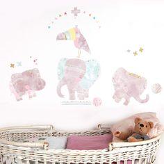 Sticker Parade des Eléphants (grand modèle) : Love Maé