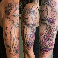 #tattoos #bodatattoos #cat #bastet