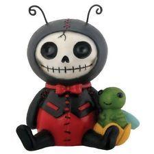 Furry Bones DOTS the Ladybug Figurine, Skeleton in Costume, NIB
