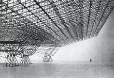 Konrad Wachsmann, Roof Construction for Aircraft Hangar (Model), (1951-1953)  Commissioned by the United States Air Force, Konrad Wachsmann,...