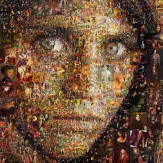 Afghan Girl Mosaic by Cornejo-Sanchez.deviantart.com on @deviantART