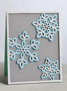 Shimmer Snowflake Frame Layer Set