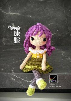 Crochet Doll Pattern Connie 康妮