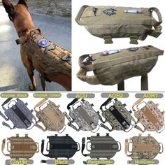 Tactical Dog K9 Training Molle Vest Harness 5 Sizes, 9 colors option], in [Pet Supplies, Dog Supplies, Harnesses   eBay