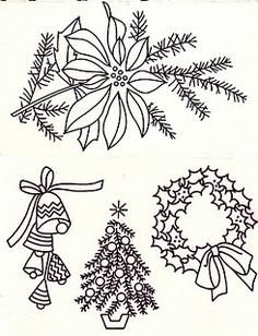 Christmas embroidery patterns courtesy of Faster Kittykill Blog- RRM