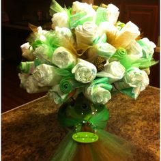 Baby shower diaper bouquet!