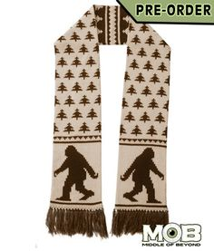 Bigfoot Sasquatch Knit Scarf – Middle of Beyond