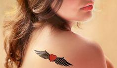 Heart wing #tattoo design inspiration!