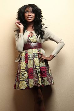 Its African inspired. Cute look!
