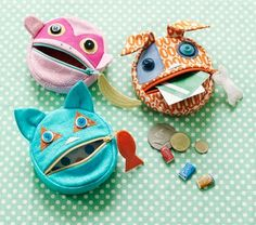 Feed the Animals - coin purses sewing pattern ($8.95 Oliver + S)