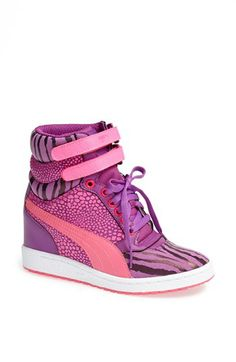 I think I love you. PUMA 'Sky Wedge Reptile' Sneaker available at #Nordstrom