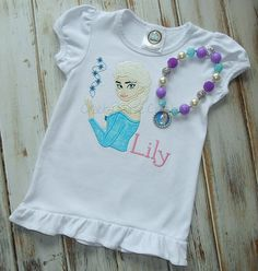 Elsa Frozen Shirt     Elsa Necklace by CrabbyNurseCreations, $22.00