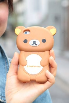 SNAP @Ryuji Murakami Anazawa, Tokyo Japan #iphonecase #kawaii #rilakkuma.      Someday we're going to get one of those fancy phones, and something like this to put it in.  Until then, rotary dial still works for us!