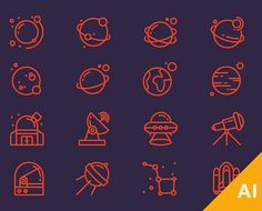 Take a look at this massive list of over 1000 fresh and new Illustrator freebies! These new Illustrator freebies will help you save a lot of work time! Web Design, Icon Design, Graphic Design, Cosmos, Space Troopers, Motion Graphs, Free Icon Packs, Branding, Logos Design