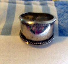 RING   CIGAR BAND   Wide  Sterling Silver  Size 8 by MOONCHILD111, $19.95