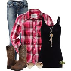"""""""Country Comfy"""" Except my boots are Black Western Lardeos with Fringe! So it would make the look even more sexy! :)"""