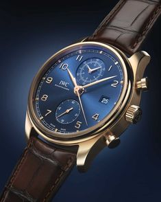 Bucherer BLUE EDITIONS The IWC Portugieser Chronograph Classic, a luxury watch for seafarers & enthusiasts combining style, sophistication & features. Popular Watches, Best Watches For Men, Cool Watches, Elegant Watches, Beautiful Watches, Gentleman Watch, Iwc Watches, Automatic Watch, Watch Brands